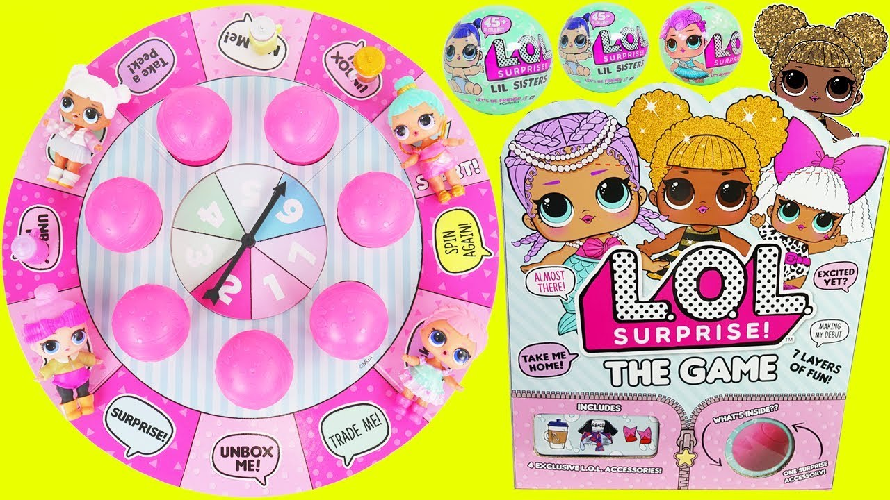 Lol Surprise Dolls Board Game With Lil Sisters Queen Bee Youtube