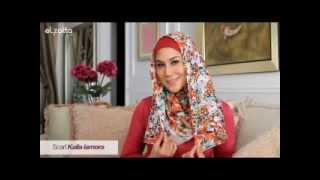 Tutorial Hijab ala Marini Zumarnis Part 1