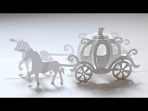 180 deg cinderella carriage pop up card youtube for How to build a carriage