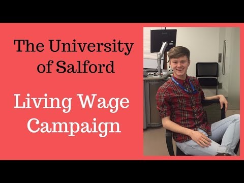 LIVING WAGE CAMPAIGN INTERVIEW    THE UNIVERSITY OF SALFORD