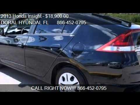 2013 Honda Insight LX 4dr Hatchback for sale in DORAL, FL 33