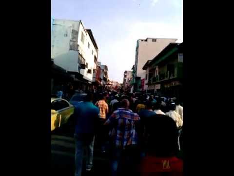 Protesta de los trabajadores del Canal de Pana