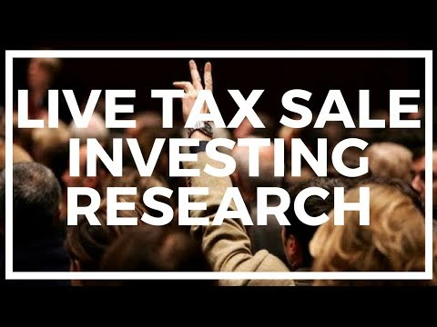 (LIVE) Online Auction Research of FL, CA, MD, NE: Tax Sale Investing