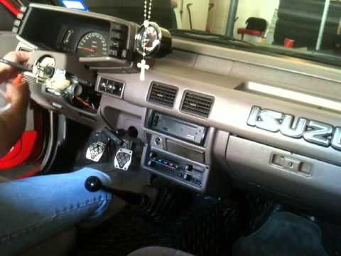 95 Isuzu pickup dash removal 1 4 YouTube