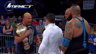 Kurt Angle and EC3 Contract Signing for World Title Match (Jun 17, 2015)
