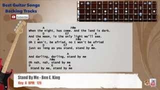 Stand By Me - Ben E. King Bass Backing Track with scale, chords and lyrics