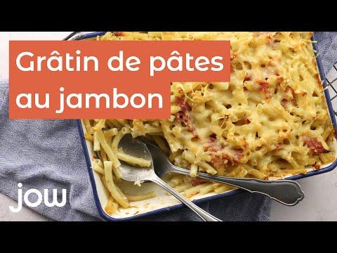 recette-du-gratin-de-pâtes-au-jambon