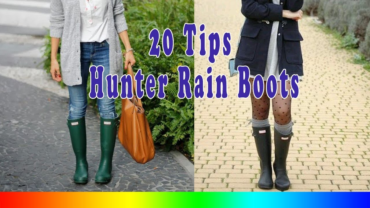 eb6be47b7 20 Style Tips On How To Wear Hunter Rain Boots - YouTube
