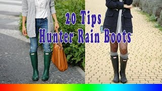 20 Style Tips On How To Wear Hunter Rain Boots