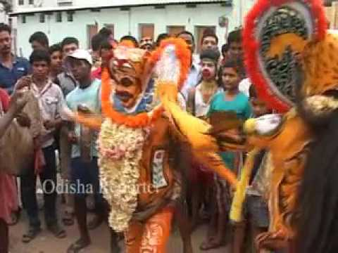 Tiger Dance in Thakuran jatra