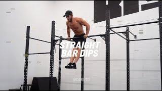 STRAIGHT BAR DIPS - Fit Calisthenics Exercise Video Library