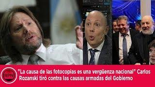 """""""La causa de las fotocopias es una vergüenza nacional"""" Rozanski tira contra las causas armadas"""