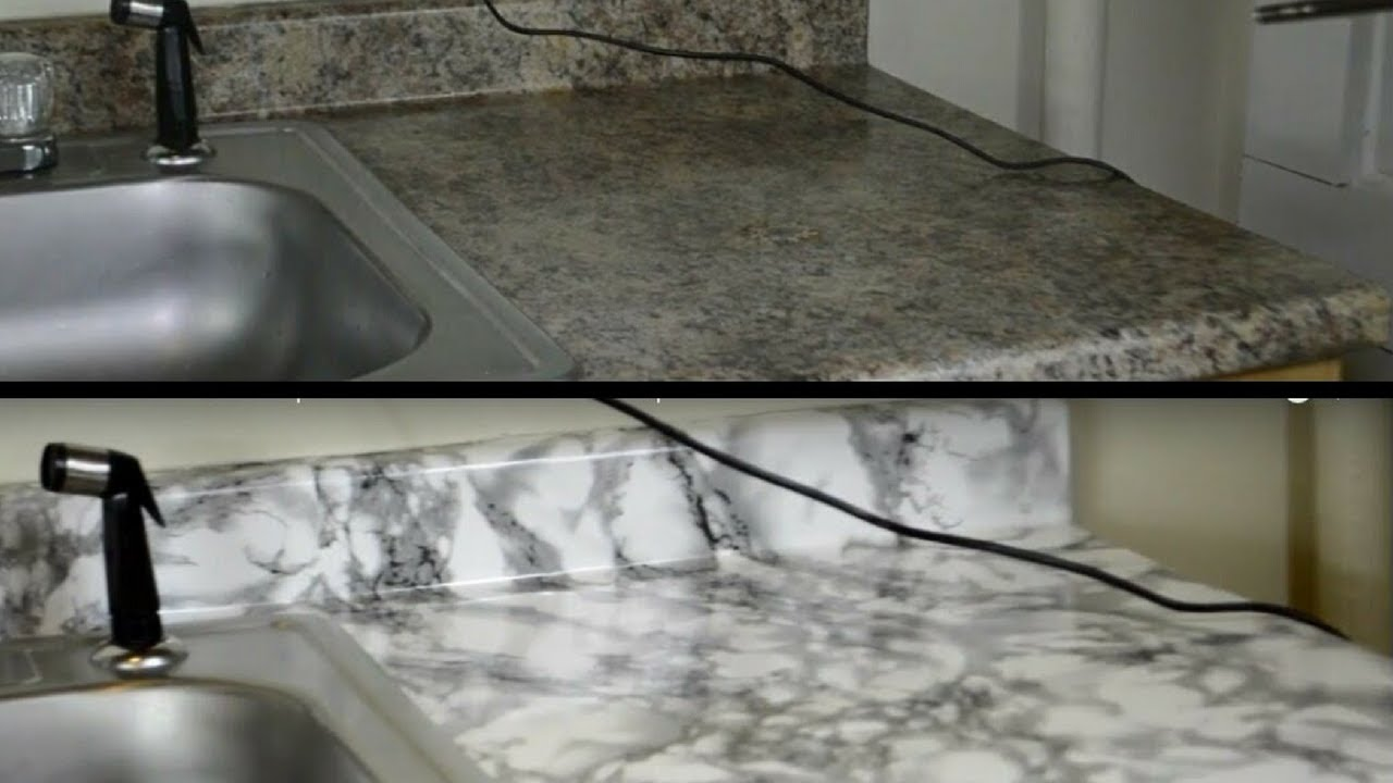 Diy Kitchen Countertop Makeover With Contact Paper Hd