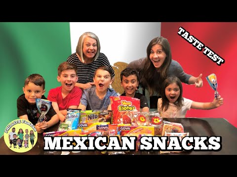 MEXICAN FOOD TASTE TEST | AMERICANS TRY MEXICAN SNACKS | KIDS REACT | PHILLIPS FamBam Taste Tests