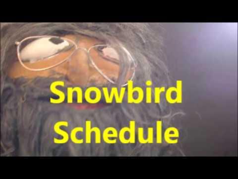 Snowbird Schedule 2018