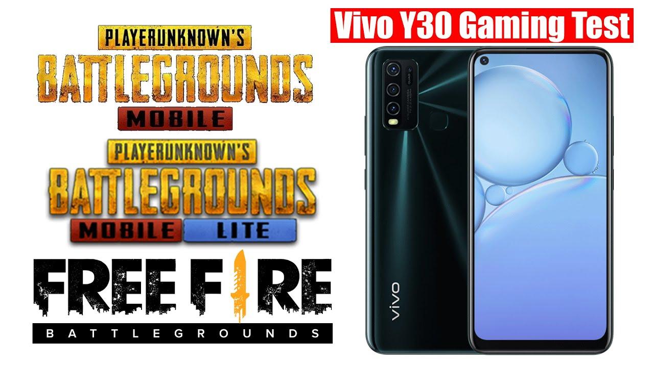 vivo y30 gaming test & review | pubg mobile | pubg lite | garena free fire
