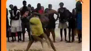 Leral.net: Vidéo: combat de lutte entre deux filles finit par une chute spectaculaire...