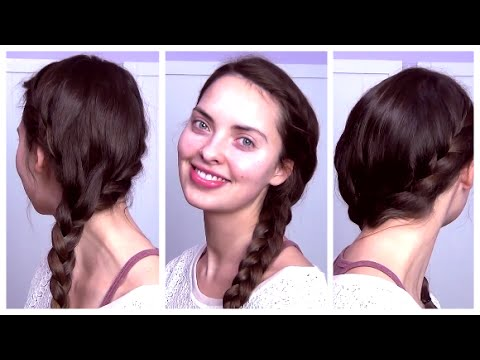 cute everyday hairstyle french-braided