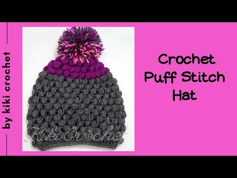 Crochet Puff Stitch Hat Youtube