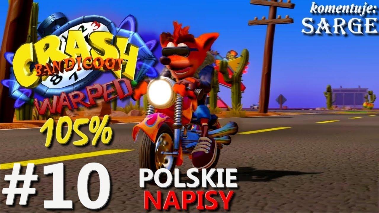 Zagrajmy w Crash Bandicoot 3 PS4 Remake (105%) odc. 10 – Pierwsze czasówki | napisy PL | 1440p
