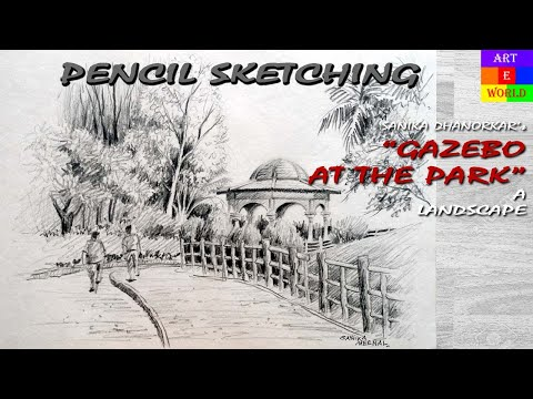 Pencil Sketching | Landscape | Tutorial Lessons Video | beginners | techniques