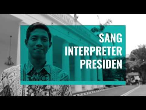 Sang Interpreter Presiden Mohammad Iqbal Sirie
