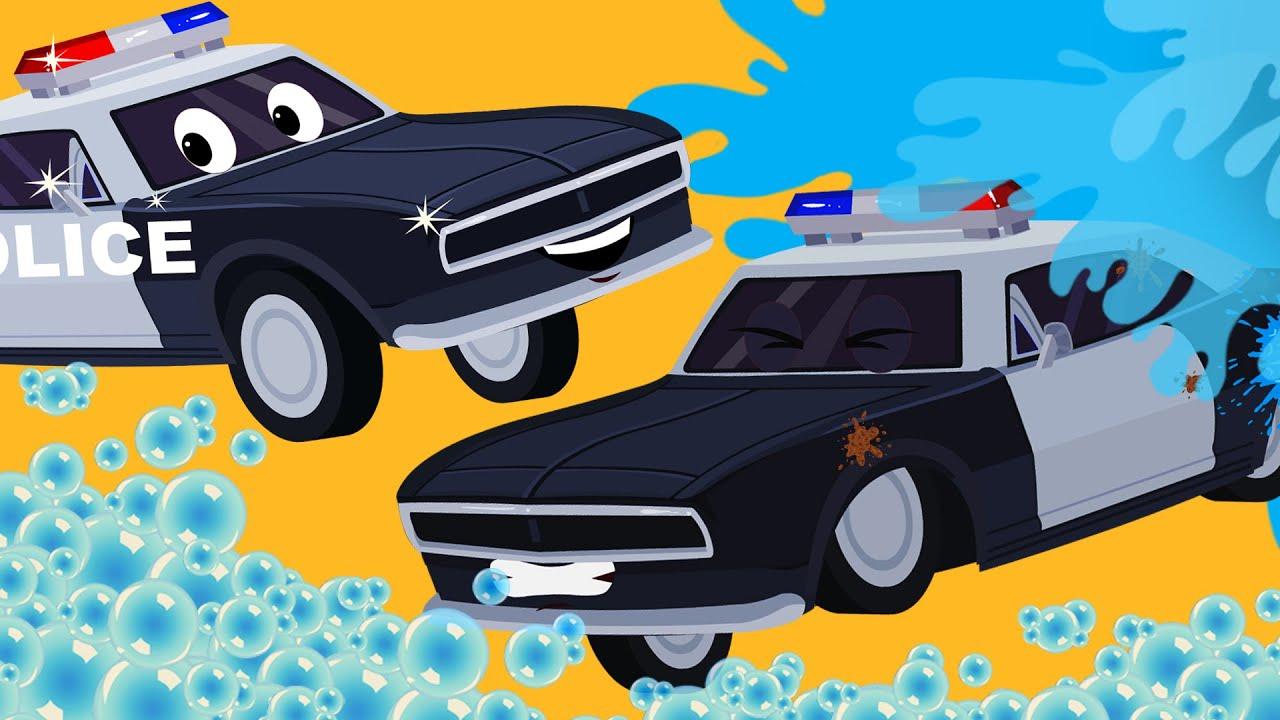 car wash police car wash car wash for kids youtube