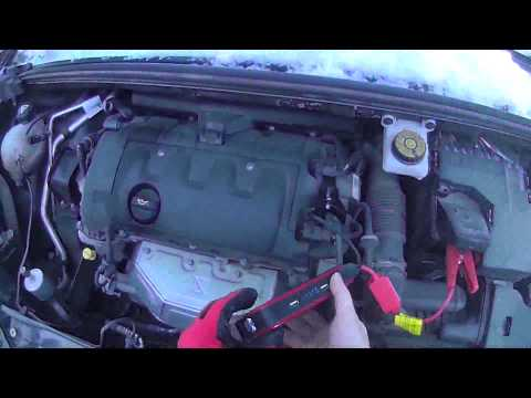 Запуск двигателя с Jump Starter (Бустер) Citroen C4