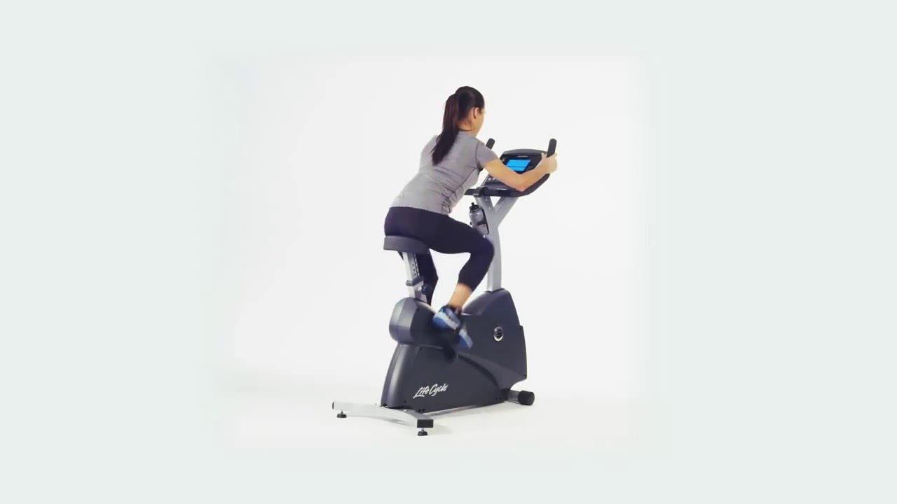 Life Fitness C1 Lifecycle Upright Bike Youtube
