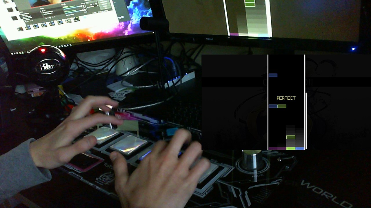 Playing osu!mania with a Sound Voltex Controller
