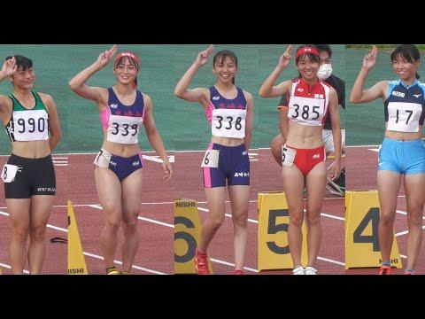 群馬県高校新人陸上 女子100m決勝 Rookie's Track meet of H.S. in Gunma Pref. Women's 100m Final Cute Japanese girls
