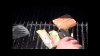Grilled Tilapia And Salmon (how To Grill Fish On A Banana Leaf)
