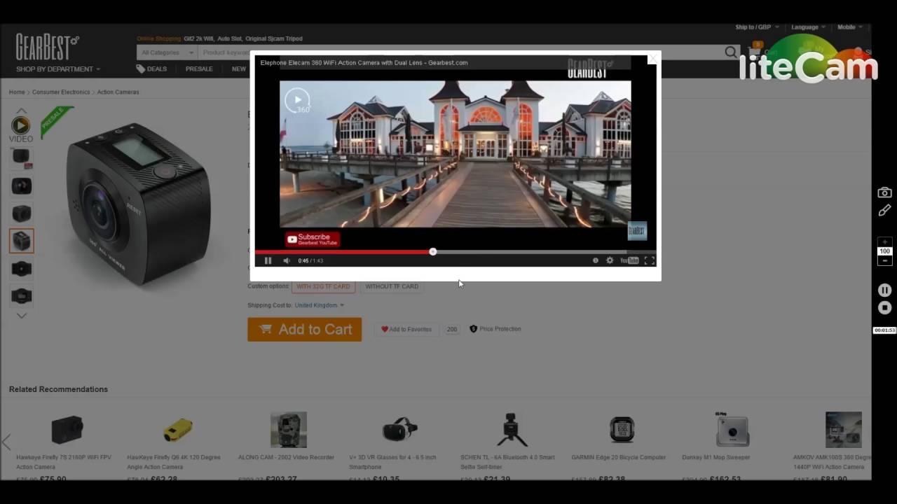 I Want The Elephone Elecam 360 Action Camera