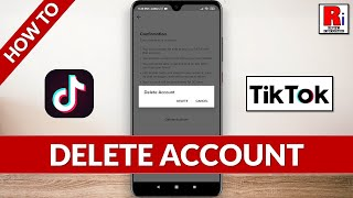 How to delete tik tok app account