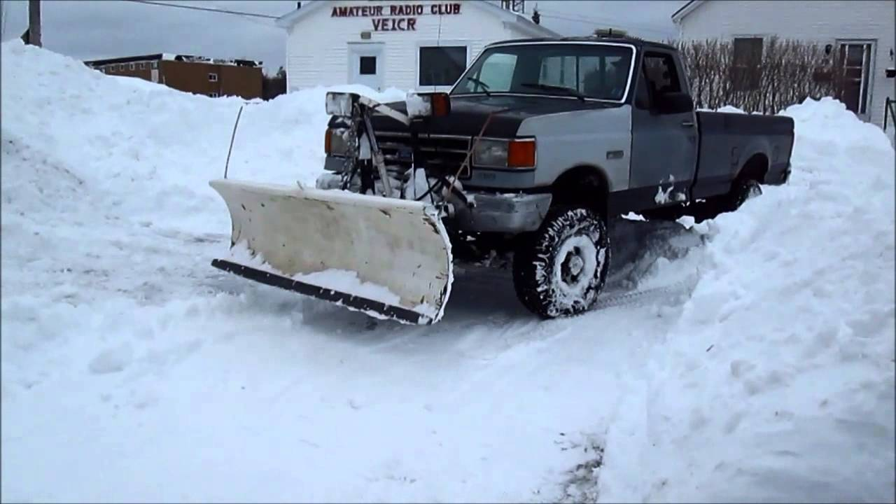 Old Ford Snow Plow In Action Youtube