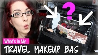 WHAT THE HECK IS IN MY TRAVEL MAKEUP BAG?! July 2014! Thumbnail