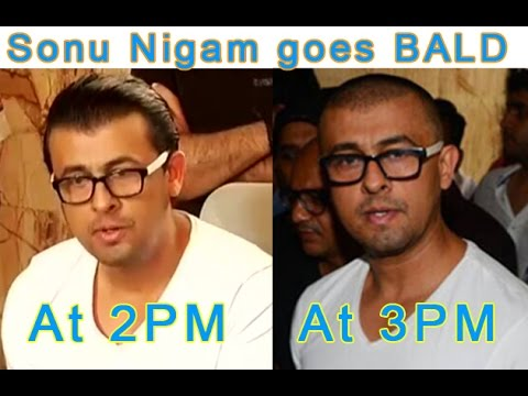 Azaan tweet row takes twist, Sonu Nigam turns bald
