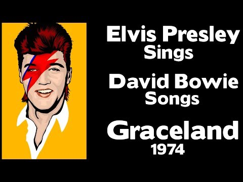 EPIC WOW!!!  Elvis Presley Sings David Bowie Songs  Graceland 1974