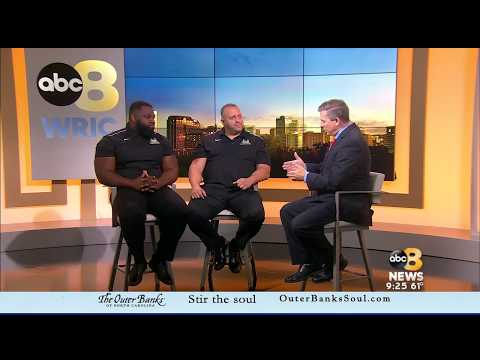 Richmond Roughriders guests on WRIC Channel 8's