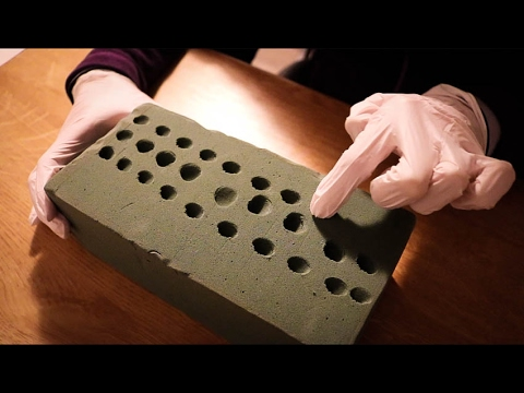 ASMR ♥ Playing with Floral Foam | Satisfying