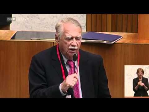 Prof. Wilhelm Hankel erklärt im österreichischen Verfassungsausschuss den ESM IBTimes