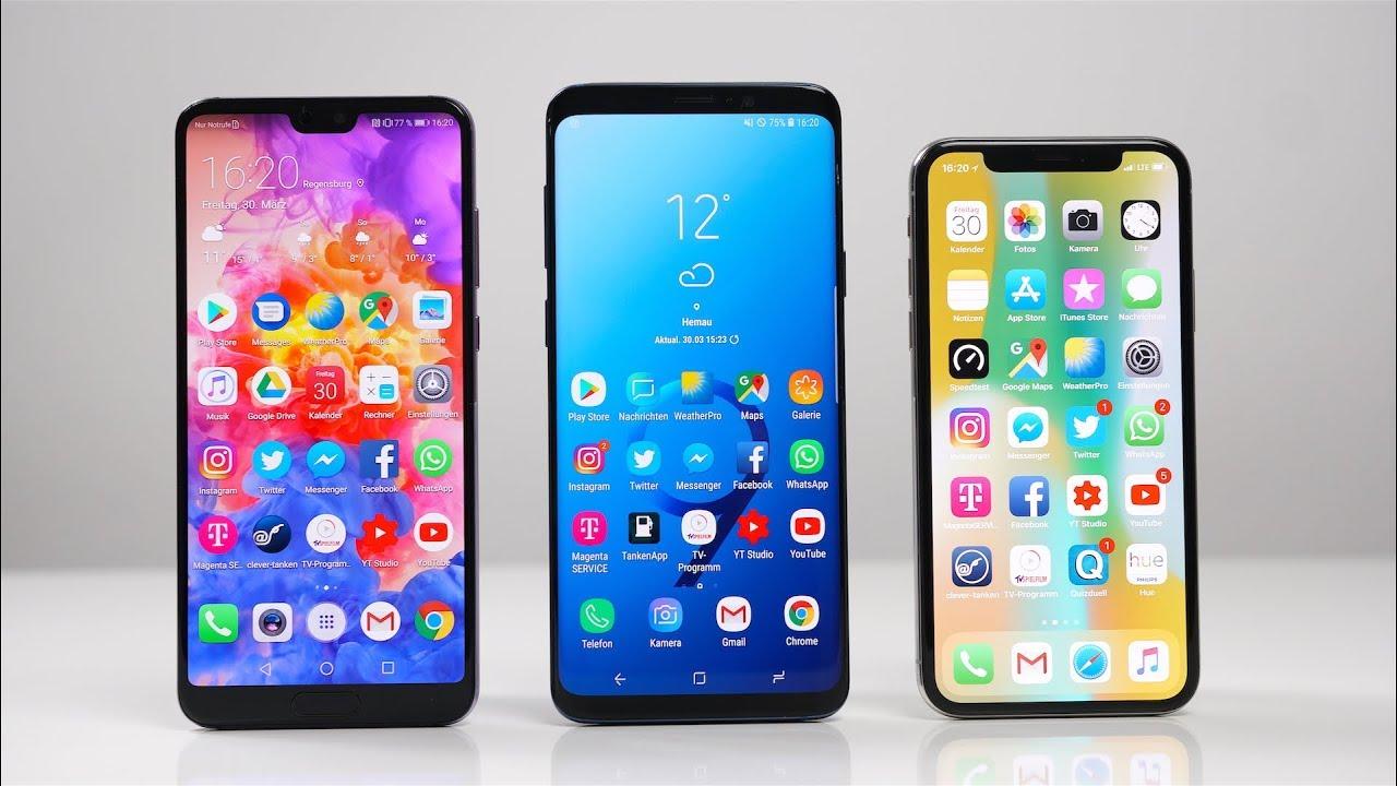 Huawei Vs Samsung Vs Iphone