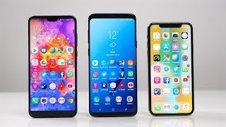 Huawei P20 Pro vs. Samsung Galaxy S9+ vs. Apple iPhone X: Benchmark | SwagTab