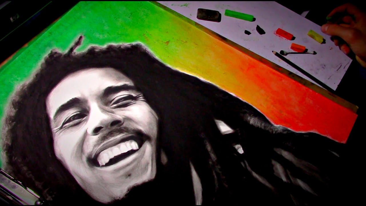 Pencil Drawing II Bob Marley II Timelapse By Your Teacher Guy