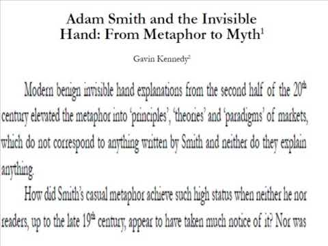 """the invisible hand theory This chapter examines the """"invisible hand"""" theory proposed by adam smith it  explains how smith uses the phrase as a description of unintended social  benefits."""