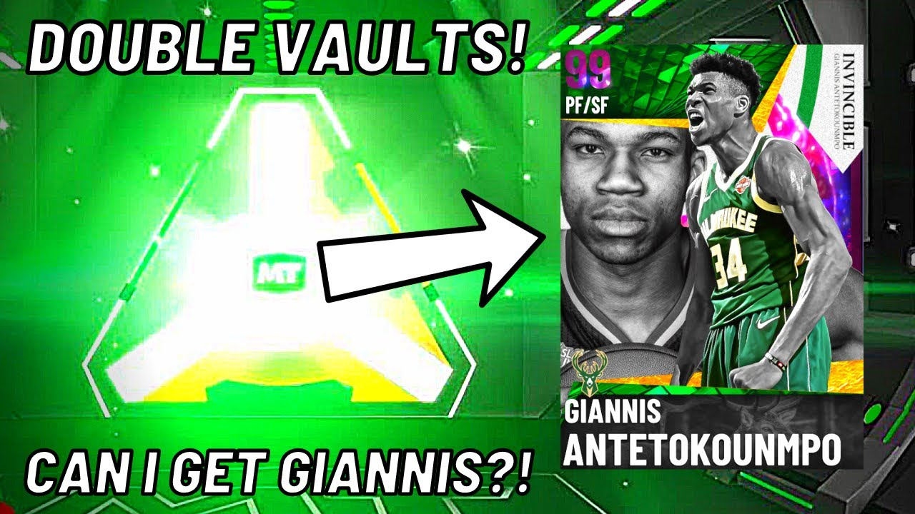 Download DOUBLE VAULT EVENT IN NBA 2K21 MYTEAM! CAN I GET *INVINCIBLE* GIANNIS IN TRIPLE THREAT?!