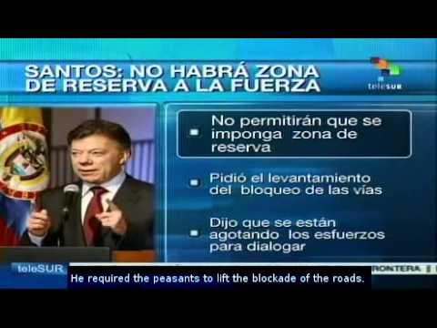 There will be no peasant reserve using force: Santos