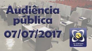 Audiência Pública  07/07/2017 - Animais Errantes
