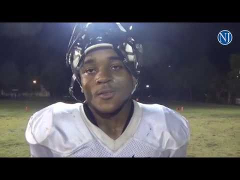 Atlantic running back Jarious Jones talks about spring football game against Warner Christian