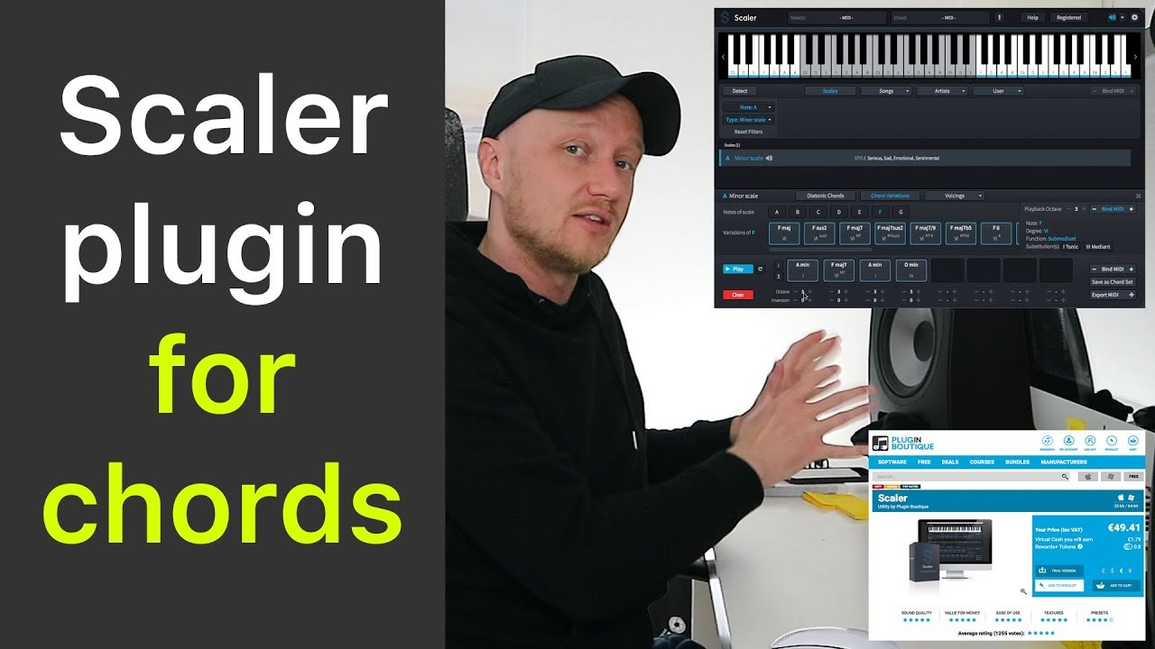 music theory with Scaler plugin by Plugin Boutique for chords - Scaler vs  Odesi